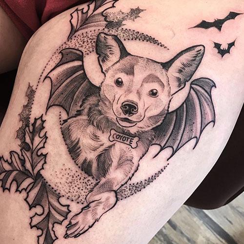 dog-bat